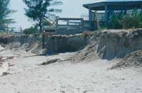 Photo: Eroded beach property.