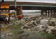 Photo: Flood aftermath: Dangerous debris.