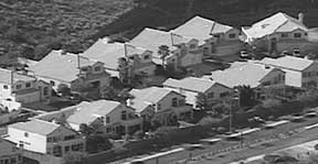 Photo: Suburban sprawl...row upon row of single family houses...