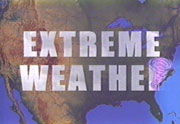 """Extreme Weather"" words over U.S. map."
